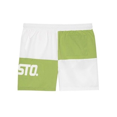 SHORTS CHES WHITE/LIGHT GREEN